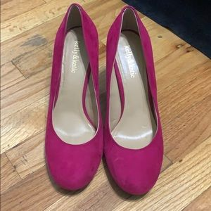 Pink fuchsia colored heels made by Kelly&Katie